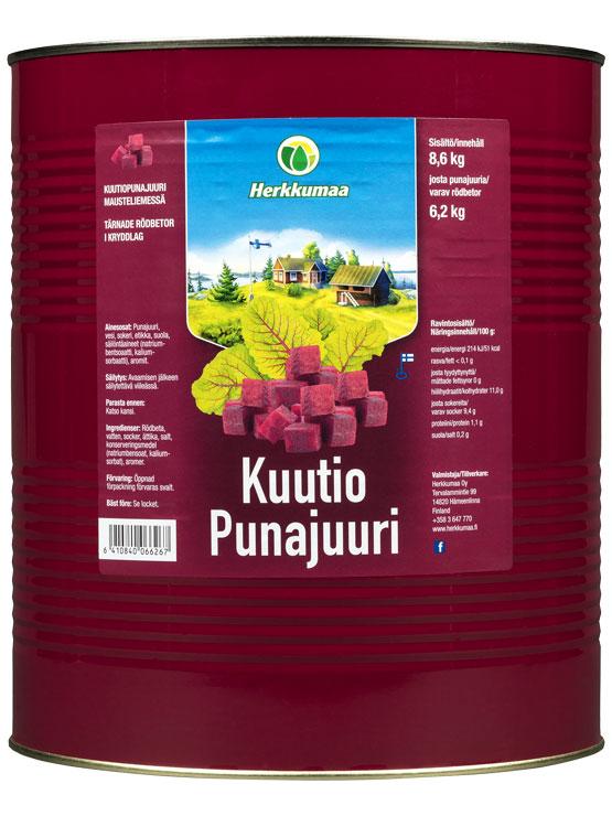 Herkkumaa kuutiopunajuuri 8,6 kg