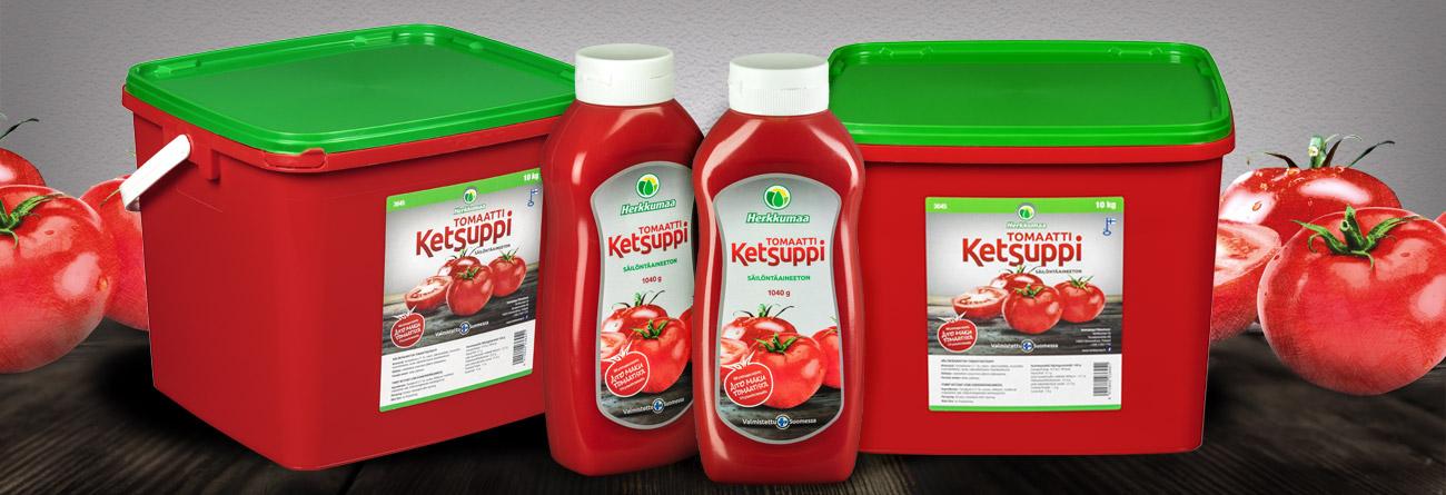 Säilöntäaineeton Herkkumaan tomaattiketsuppi