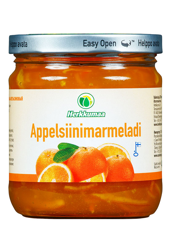 Appelsiinimarmeladi 460 g lasipurkissa