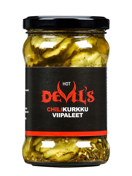 Devils Chilikurkkuviipaleet 270 g lasipurkissa