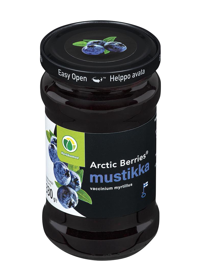 Arctic Berries Mustikkasurvos lasipurkissa easy open -kannella