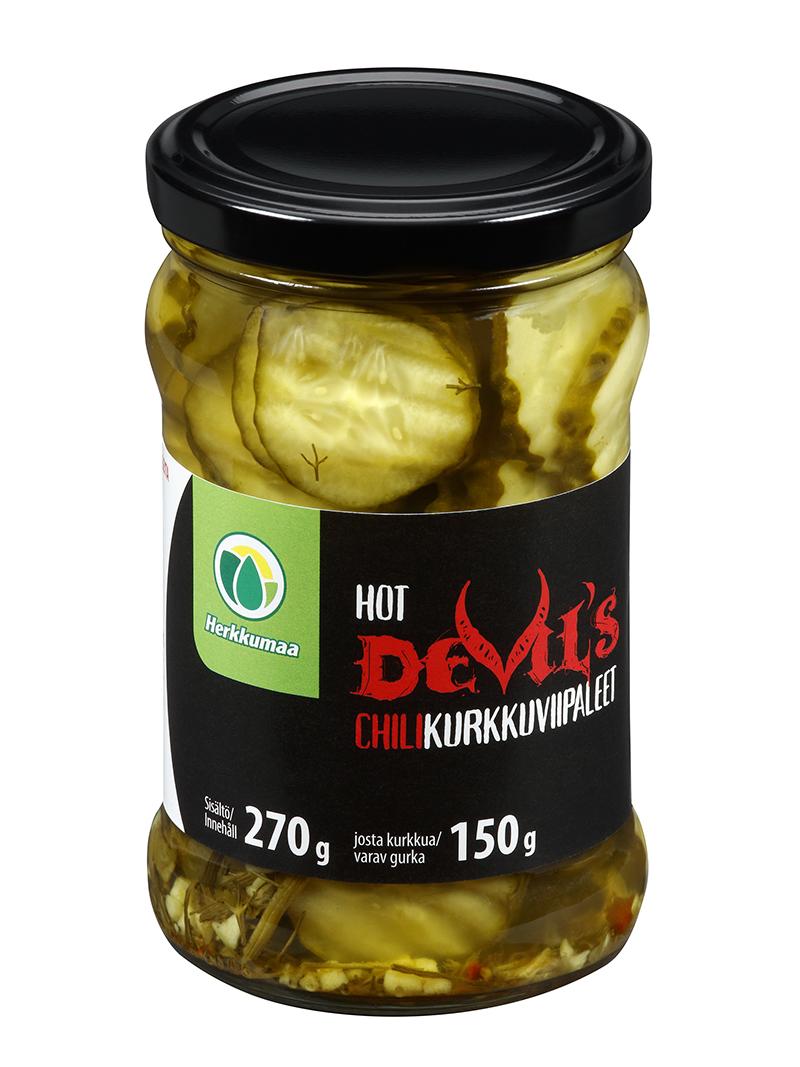 Herkkumaan Devil's Chilikurkkuviipaleet 270/150 g