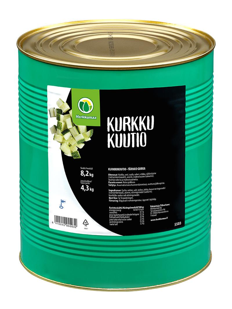 Kurkkukuutiot mausteliemessä 8,2 kg, iso peltitölkki