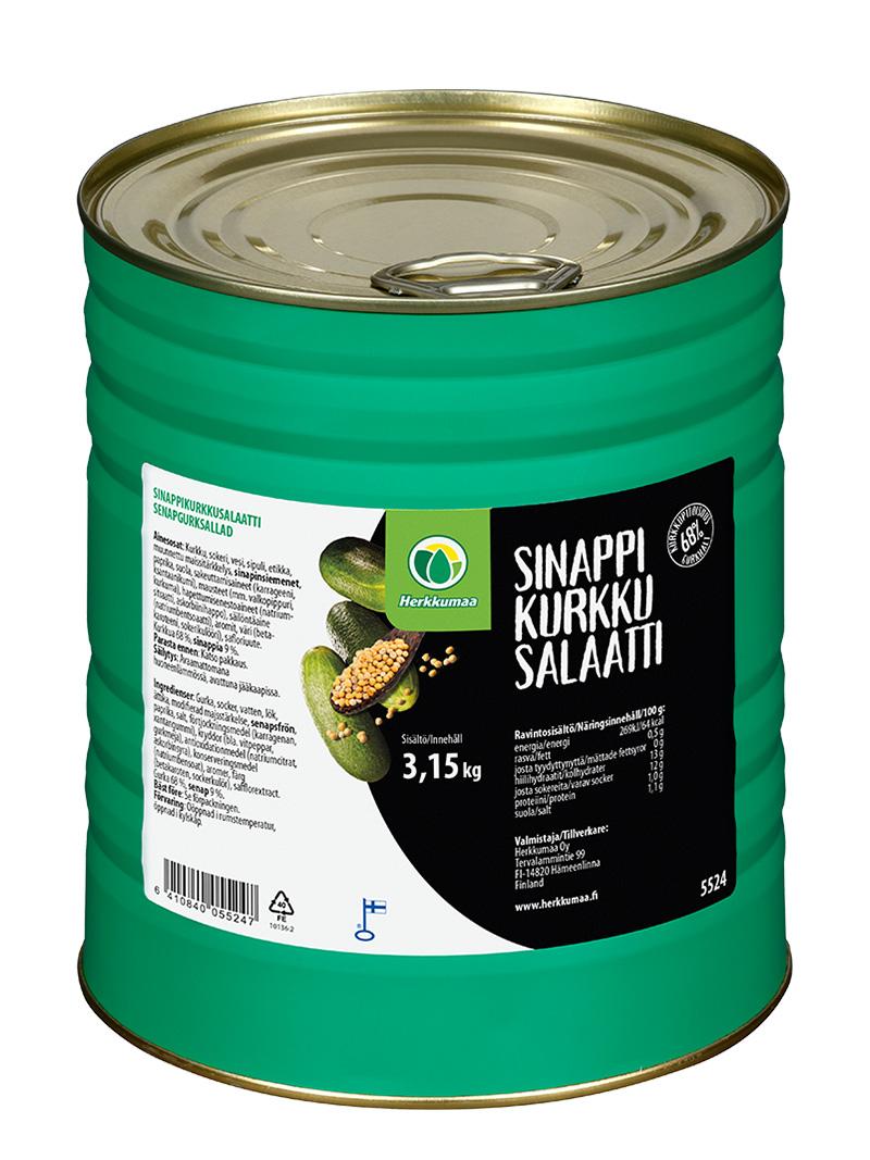 Herkkumaa sinappikurkkusalaatti 3 kg