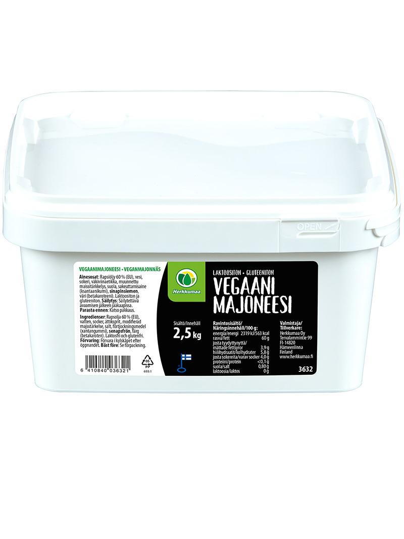 Herkkumaan Vegaanimajoneesi 2,5 kg