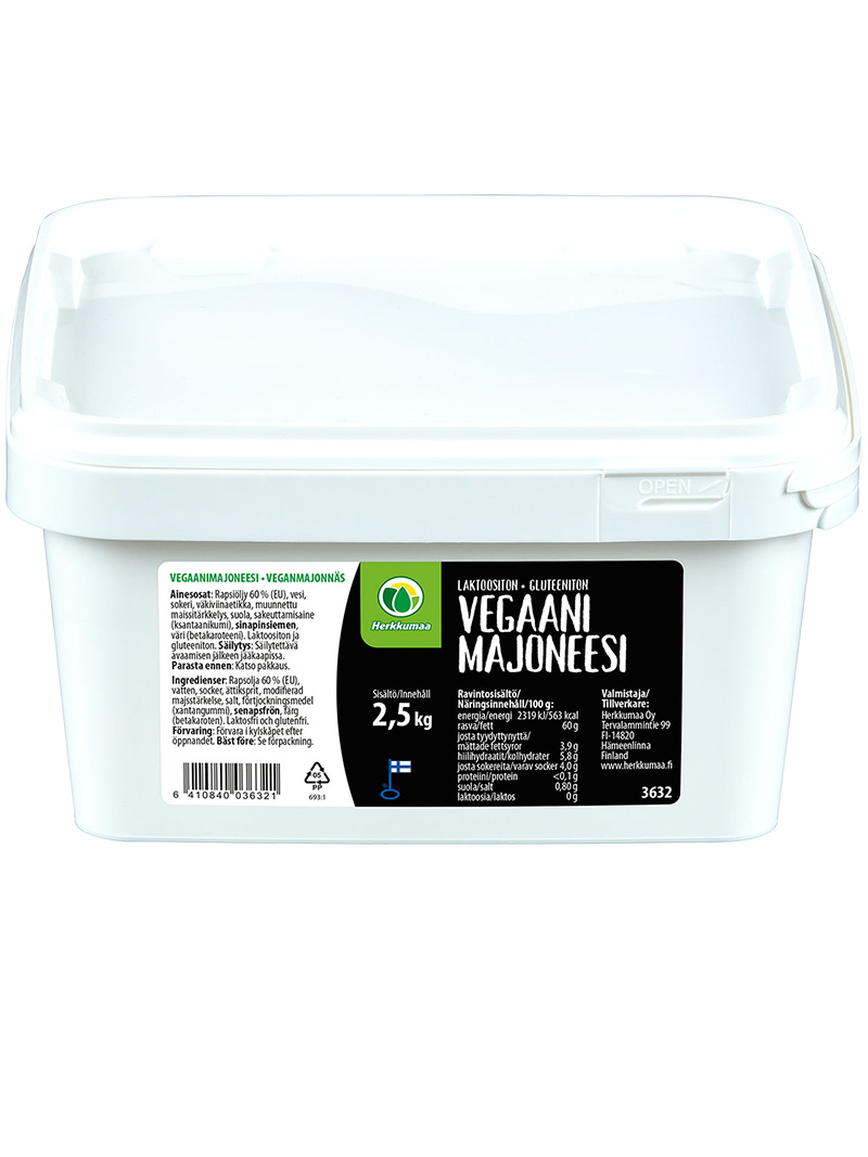Vegaanimajoneesi 2,5 kg