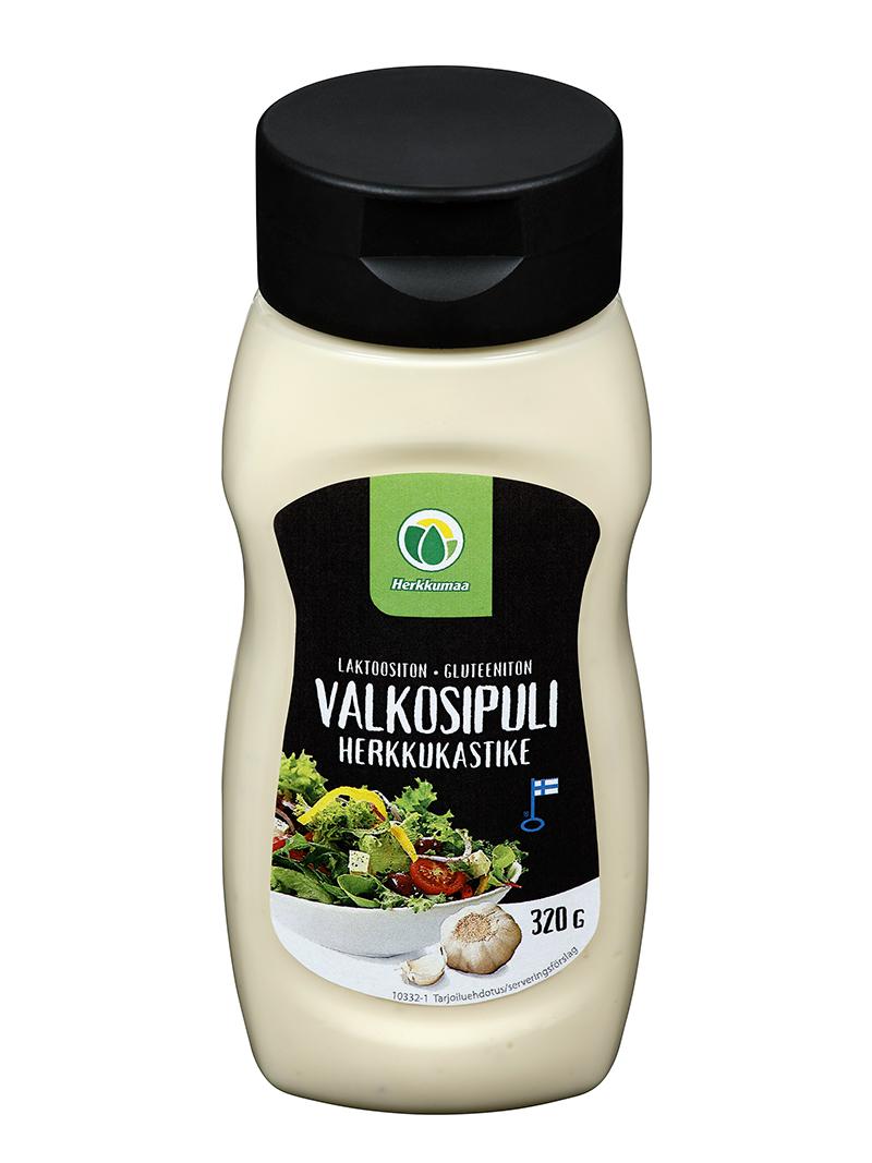 Valkosipulisalaattikastike 320 g muovipullossa